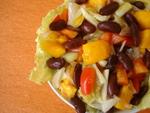 Cucumber Mango and Kidney Bean Salad