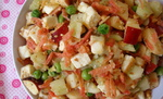High Raw Food ~ Peas, Paneer and Peanut Salad