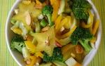 High Raw Food ~ Star-fruit Chickpea Capsicum Salad