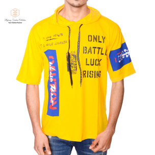 Korean Summer Short Sleeves With Hooded T-Shirt By Bajrang