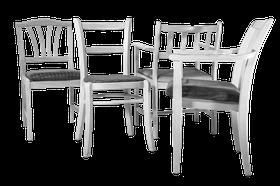 Stolmix med spjälad rygg