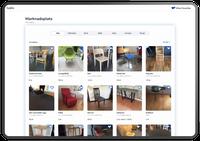 Marknadsplatsen i stor skärm – Visa alla möbler