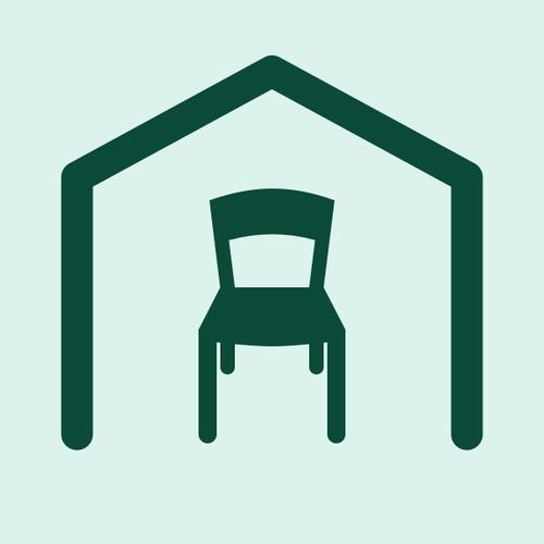 Illustration av stol i nytt hem