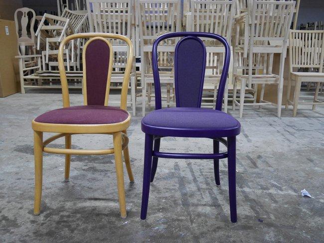 Före- och efterbild av stolen Wien