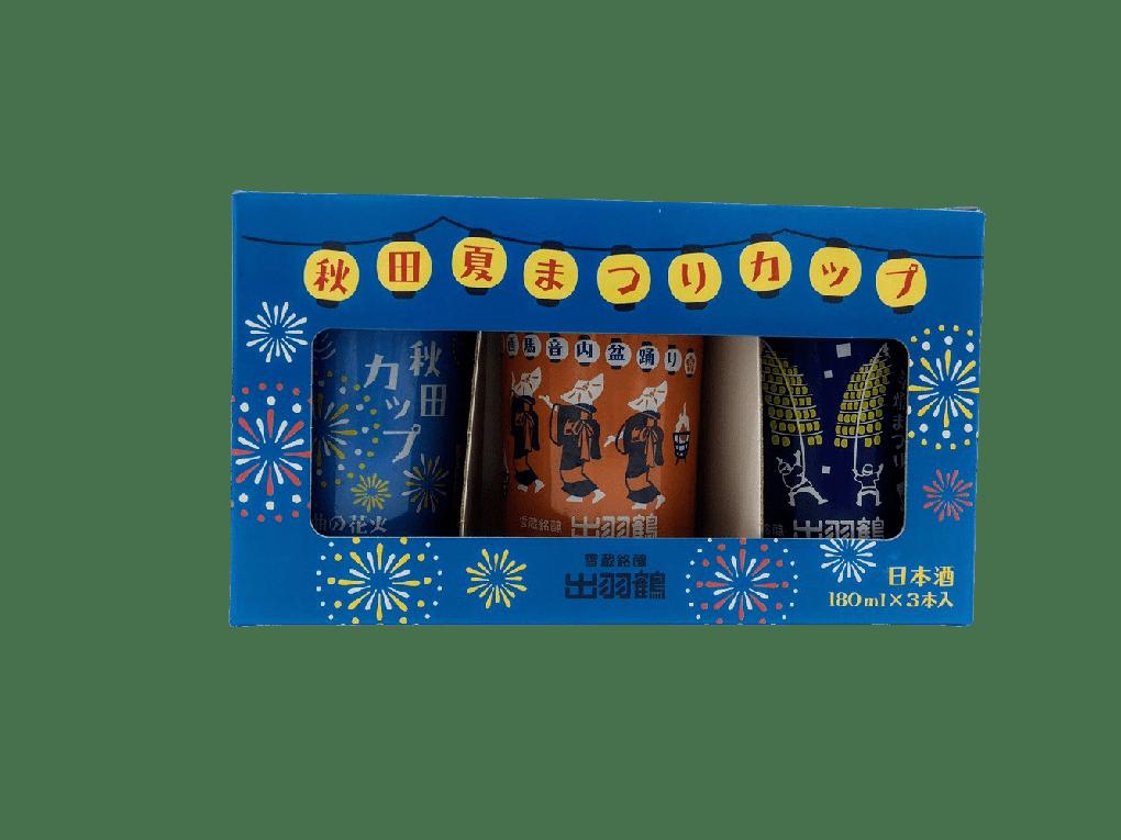 出羽鶴 夏祭杯裝純米酒[180ml x 3] - SAKEBOY 清酒男孩
