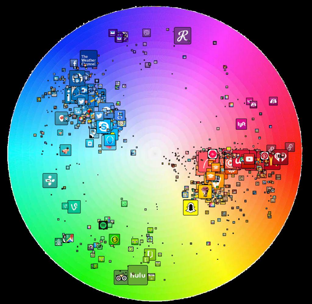 app icon colour chart