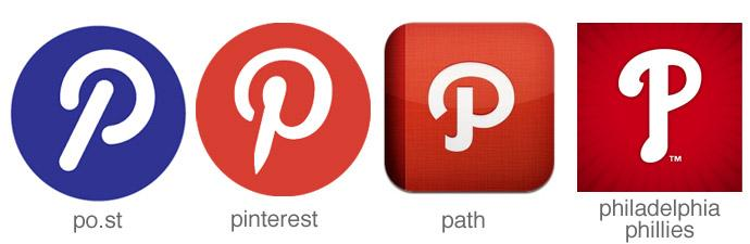 letter P app icons