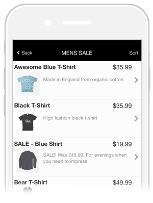 product shopping app