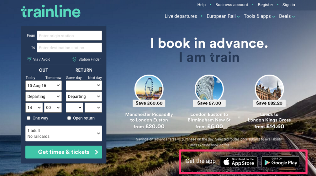 Trainline App Promotion