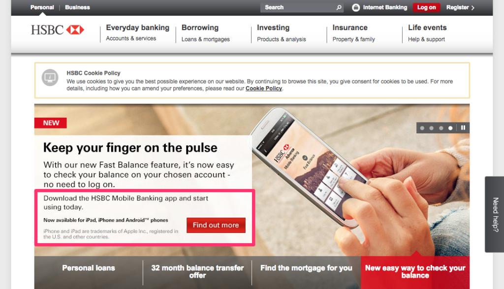 HSBC App Promotion