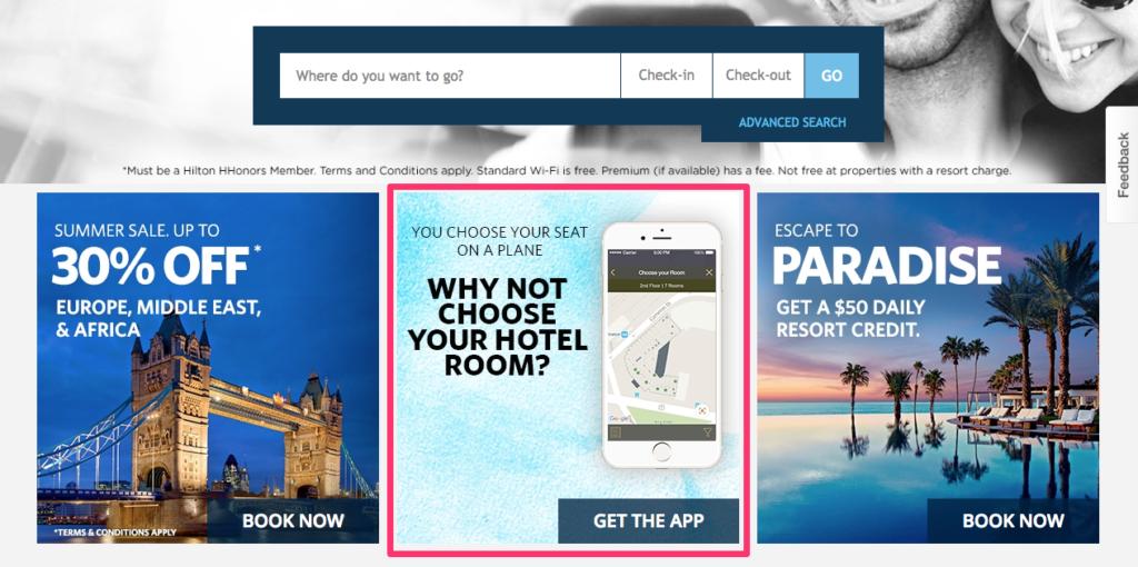 Hilton App Promotion