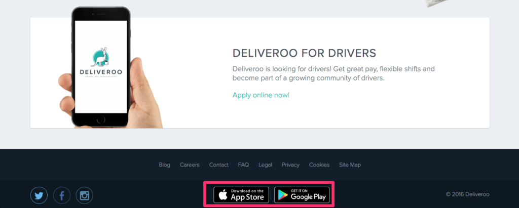 Deliveroo App Promotion