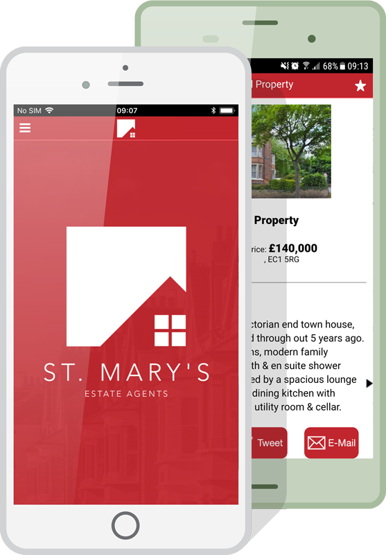 Estate Agent App Mockup