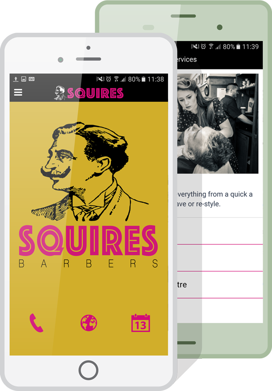 Make a Barbershop App with our easy online App Builder