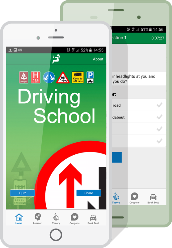 driving school apps mockup