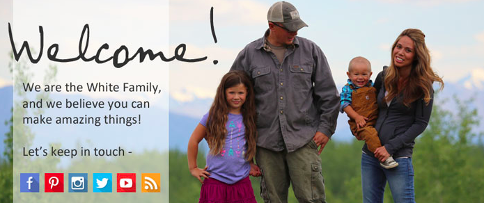 Ana White's Homepage Banner Is a Welcome to Her a Community, Not a Product or Service Push.