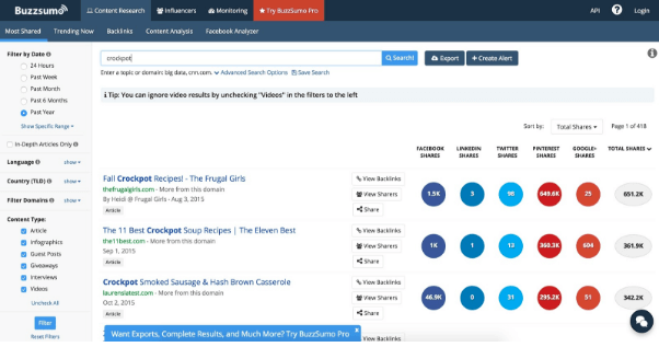 content marketing tips buzzsumo
