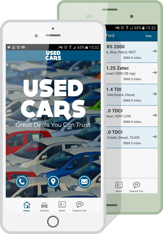 car dealer apps mockup