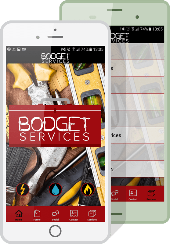 tradesmen and services apps mockup