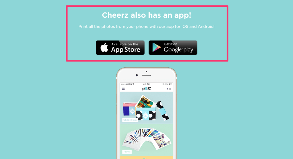Cheerz App Promotion
