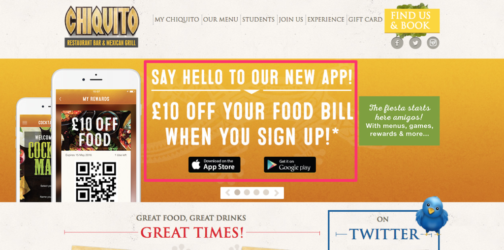 Chiquito App Promotion