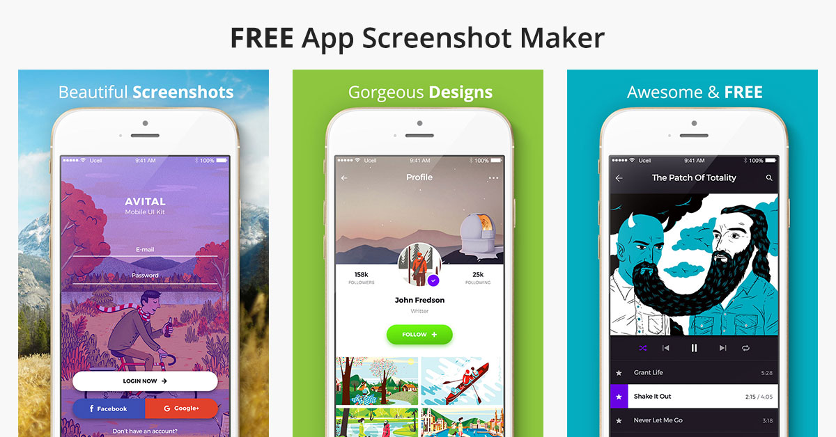 App screenshot maker screenshot builder screenshot Blueprint creator app