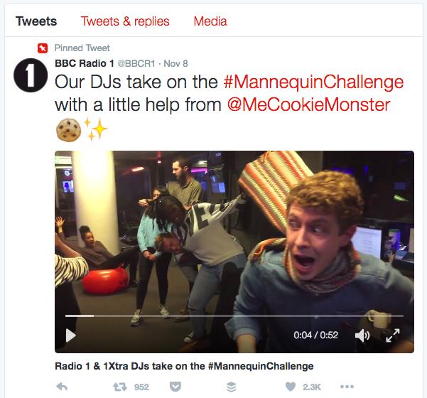 Radio 1 Twitter