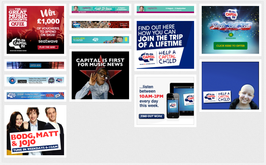Capital FM Radio Station Banner Ads