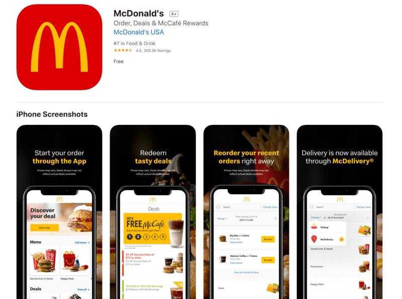 McDonalds Iphone App Screenshots