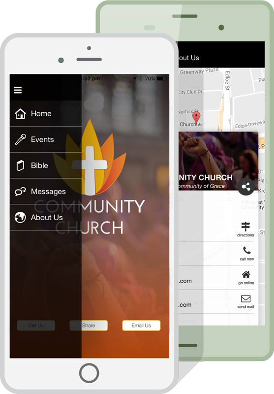 church apps mockup