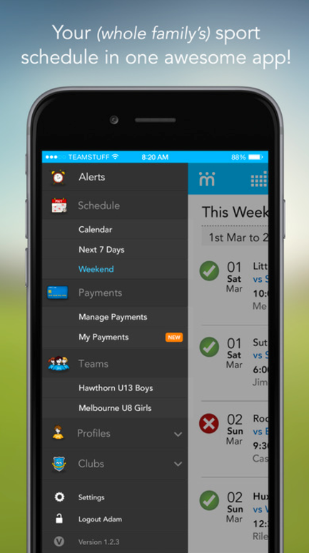 Teamstuff App Screenshot