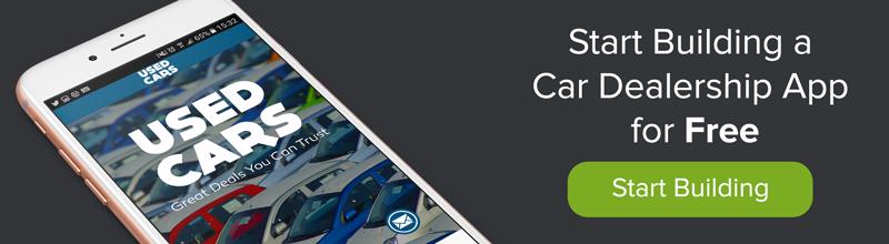 create your own car dealership app