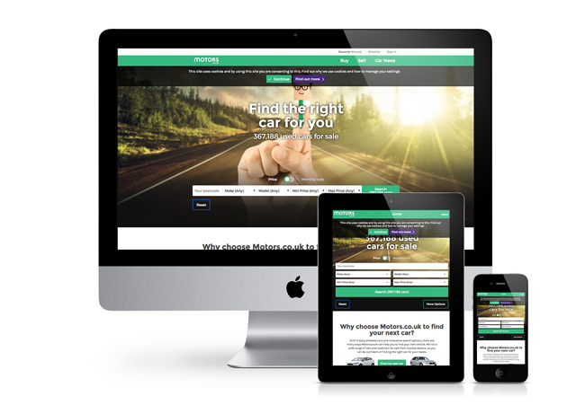 responsive website for a car dealership