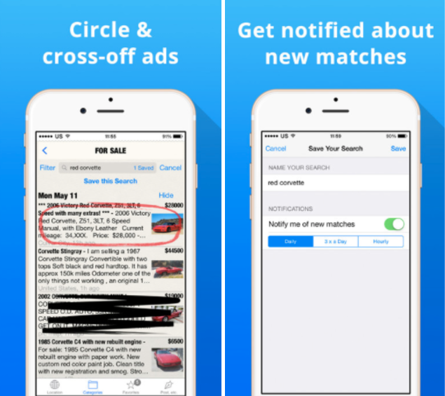 Classifieds App Screenshots