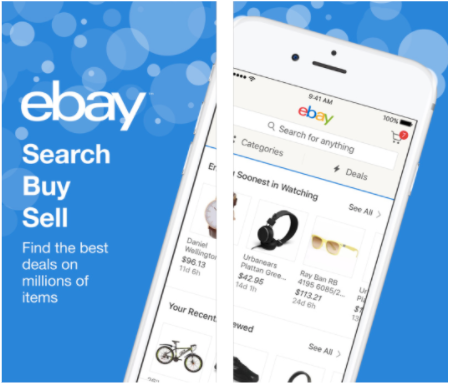 Ebay App Screenshots