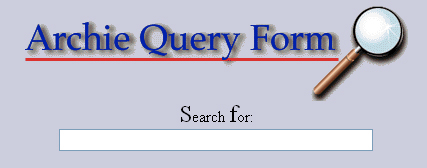 archie search engine query form