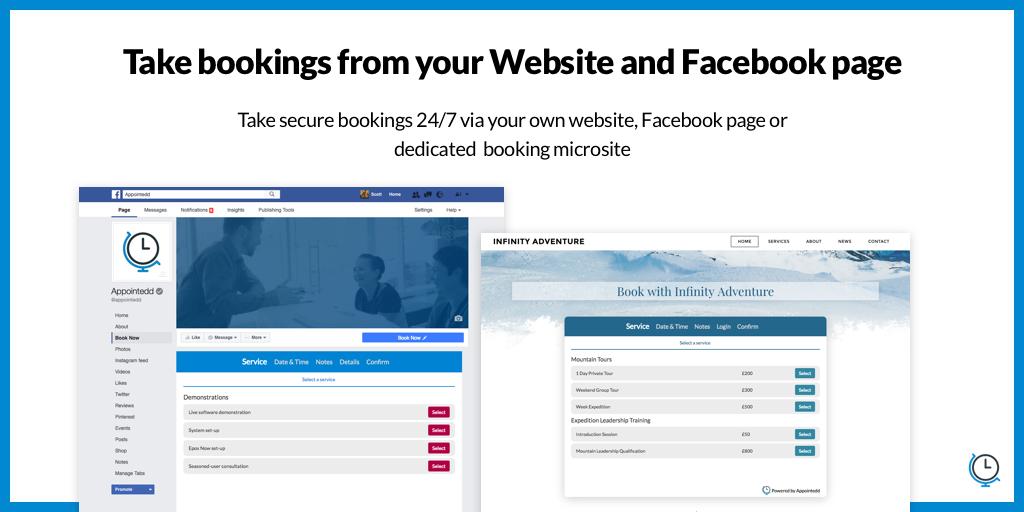 5 - Facebook + Booking App
