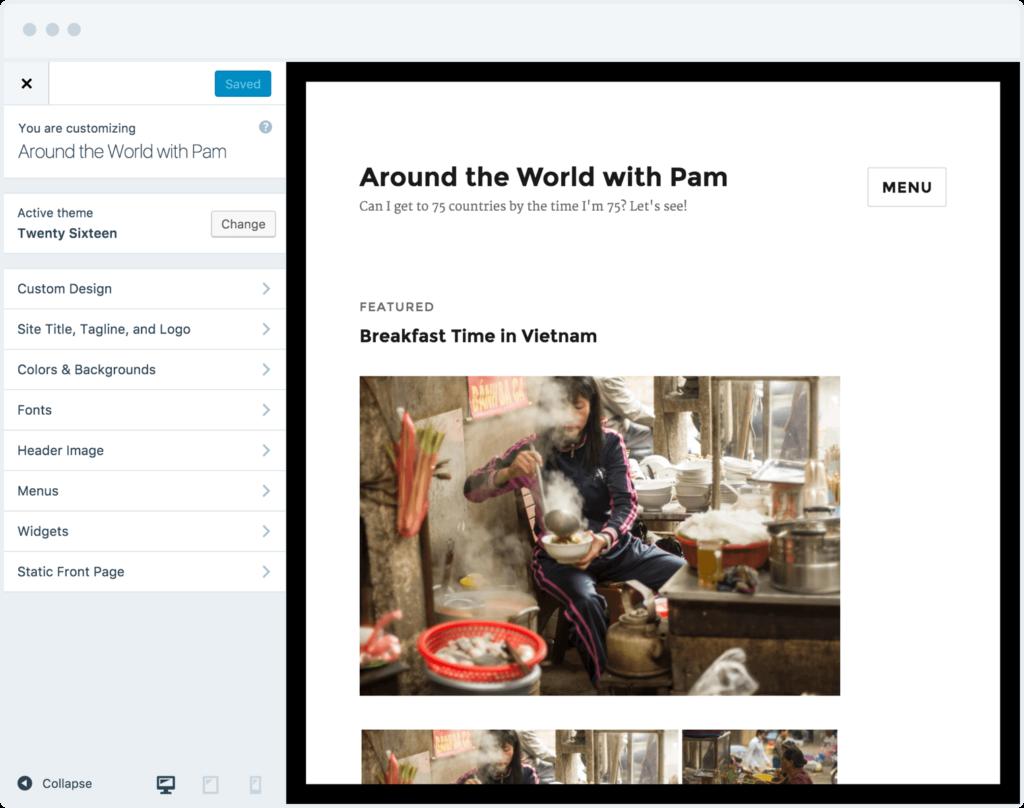 Wordpress Customise