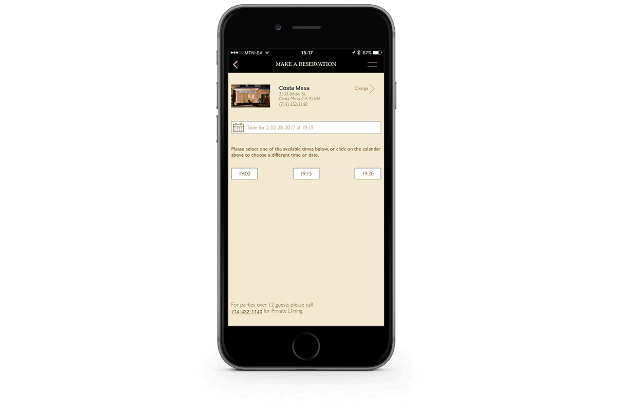 Restaurant Bookings App