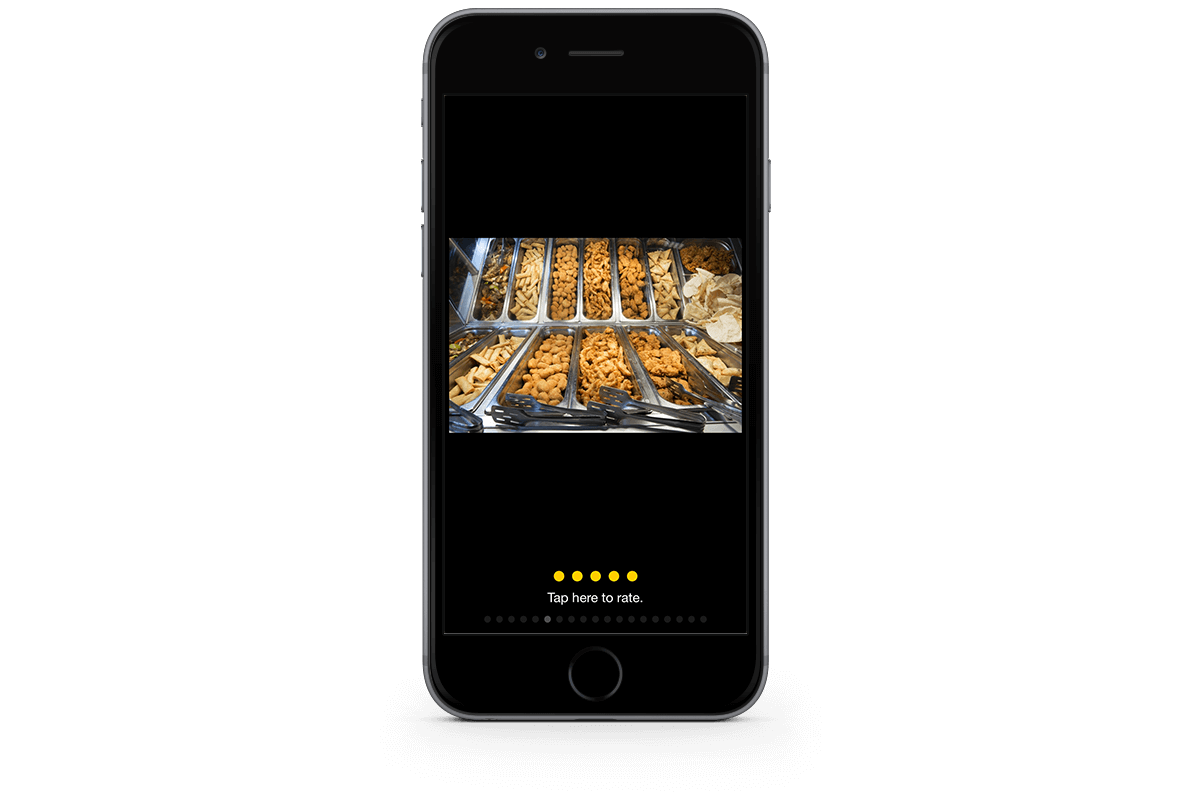 Restaurant Food Photograph in App