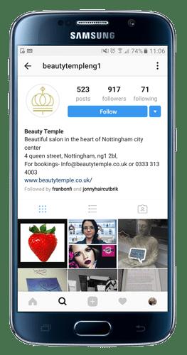 Beauty Salon on Instagram