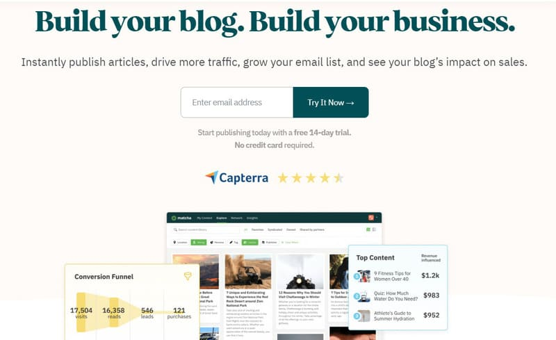 Matcha Tool Landing Page