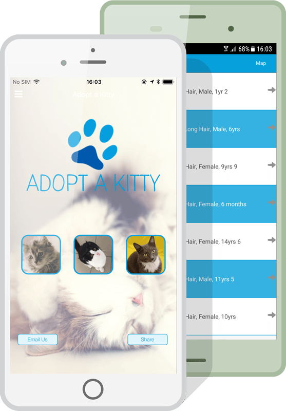 charity apps phone example