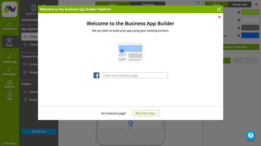 Facebook App Builder