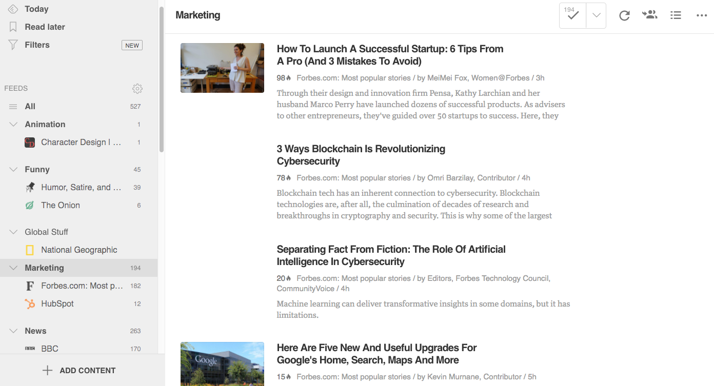 Feedly Marketing Automation