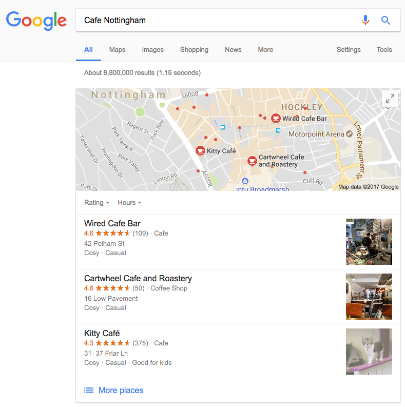 Cafe Nottingham Google Search