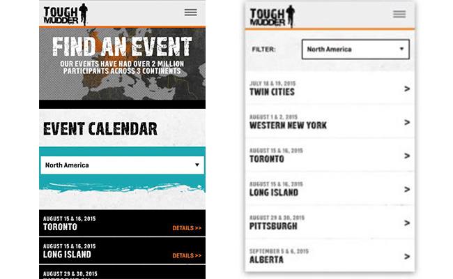 tough mudder A/B Test