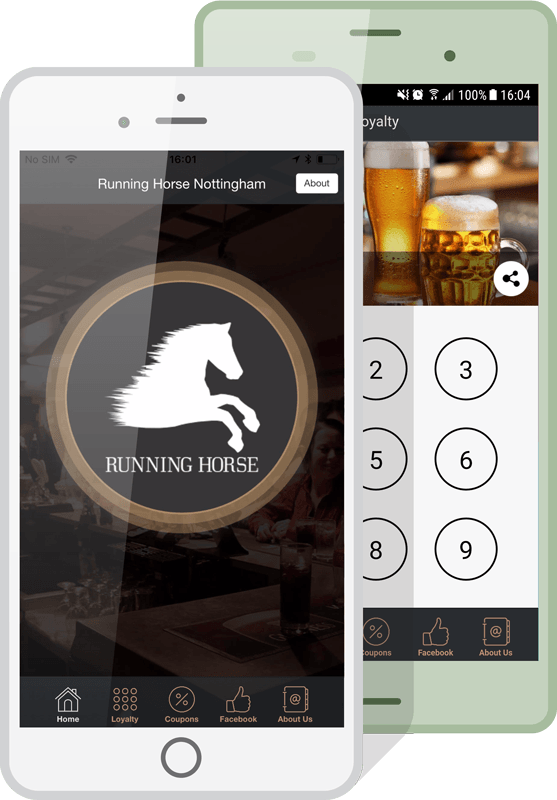 bar and pub apps mockup