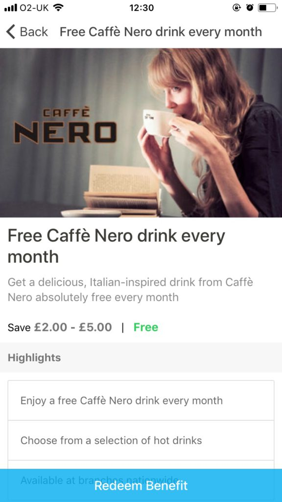 cafe nero perkbox