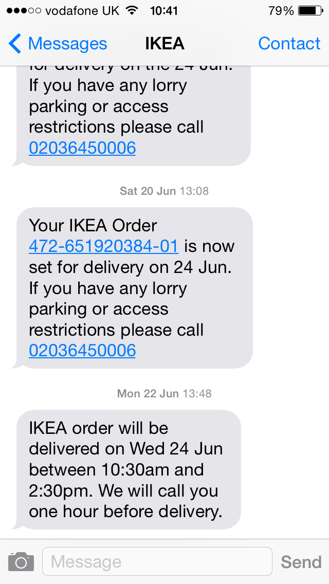 IKEA Sms Marketing